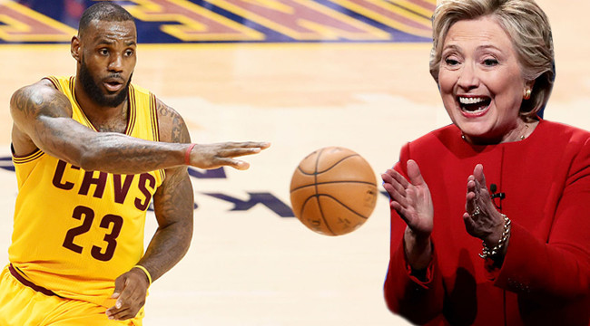 LeBron James Notes Hillary Clinton As A 'Champion for Children'