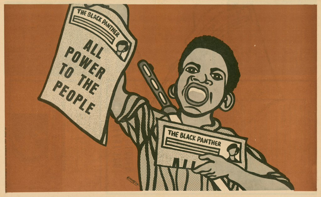 March 9 1969: 'All Power to the People' was a slogan often used by the party. (Photograph: Emory Douglas /PR)