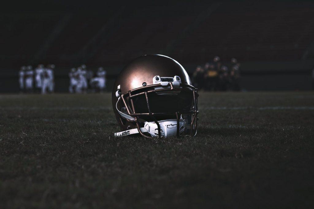 helmet on the ground